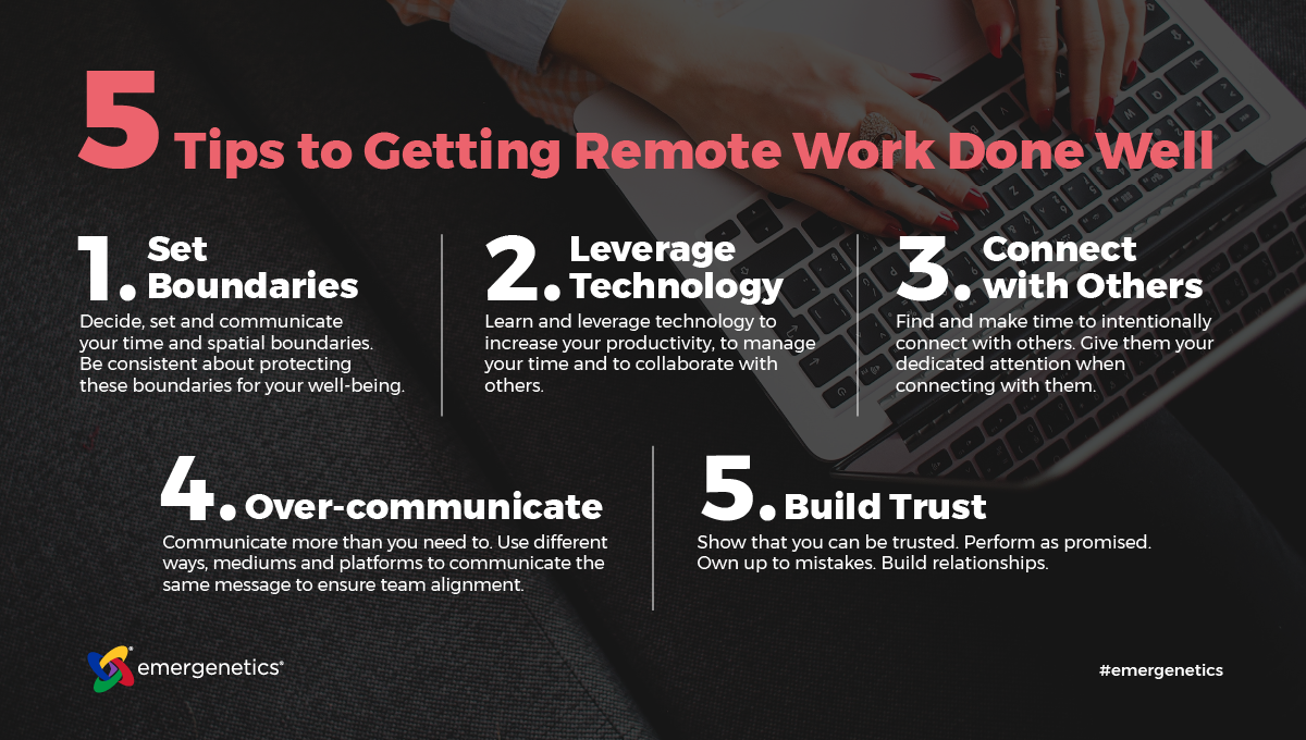 5 Tips to Getting Remote Work Done Well